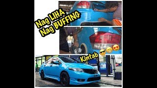 BUFFING KAY CITI l NEW PAINT l GLOSS SKYBLUE l TIMELESS RUBBING COMPOUND