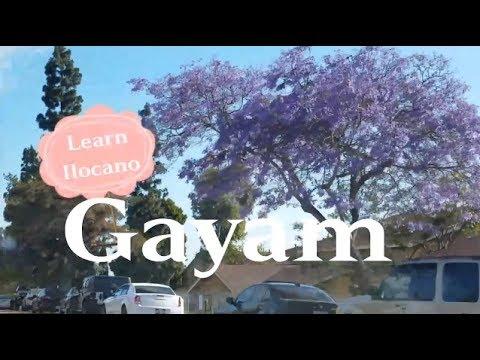 Learn Ilocano: Untranslatable Word - Gayam