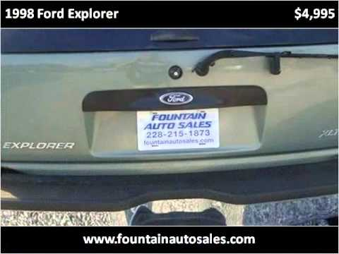 1998 Ford Explorer Used Cars Ocean Springs MS