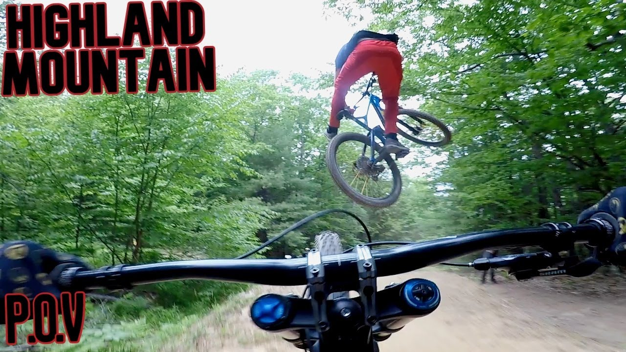 BMXers ride Downhill MTB
