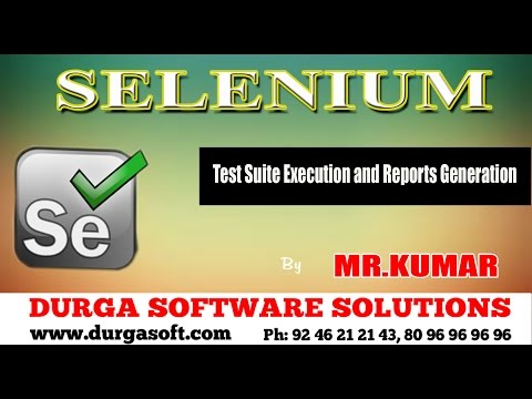 Selenium WebDriver || Test Suite Execution and Reports Generation