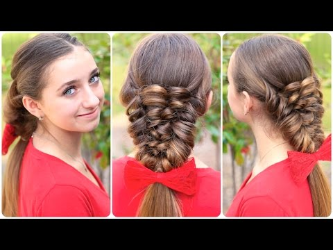 Hairstyle Creator : How to Create a Banded Puff Braid Cute Hairstyles - YouTube