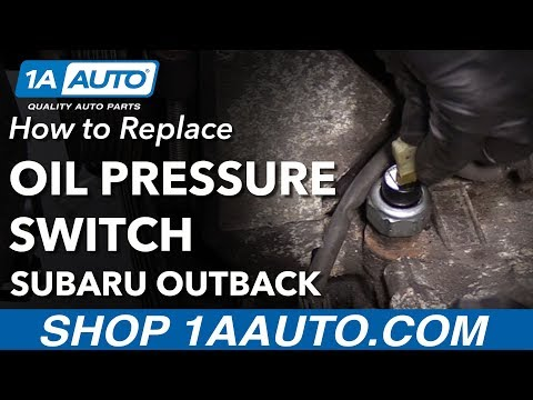 How to Replace Oil Pressure Sender 00-10 Subaru Outback