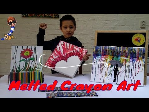 DIY Melted Crayons Art/Crayon Art Tutorial/How to melt Crayons