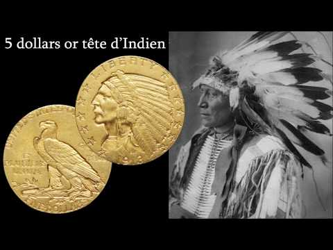 5 Dollars Or Tête D'Indien