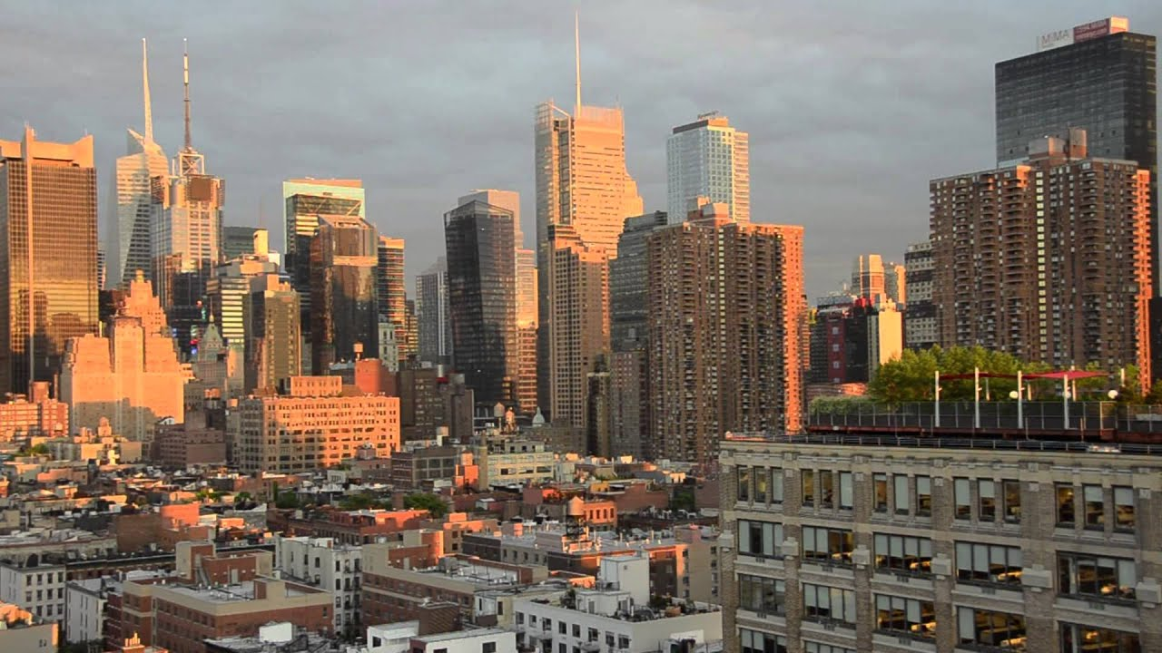 New York Skyline From Ink48 Hotel On 11th Avenue Before ...
