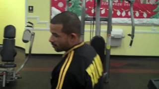 Lou Santiago at Gold's Gym in Bristol, CT