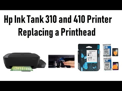 Hp Ink Tank 310 and 410 Printer Series Replacing a Printhead   Technical  Web Support