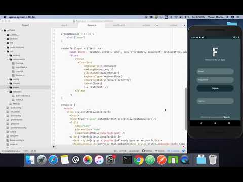 React native tutorial Part 3 - Adding Redux Form in Signup Screen