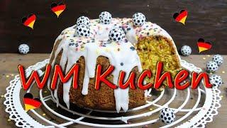 WM KUCHEN BACKEN | Deutschland Kuchen einfach selber machen [Vanille Konfetti Kuchen]