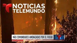 Residentes de Calistoga abandonan la zona ante el avance del fuego | Noticiero | Noticias Telemundo