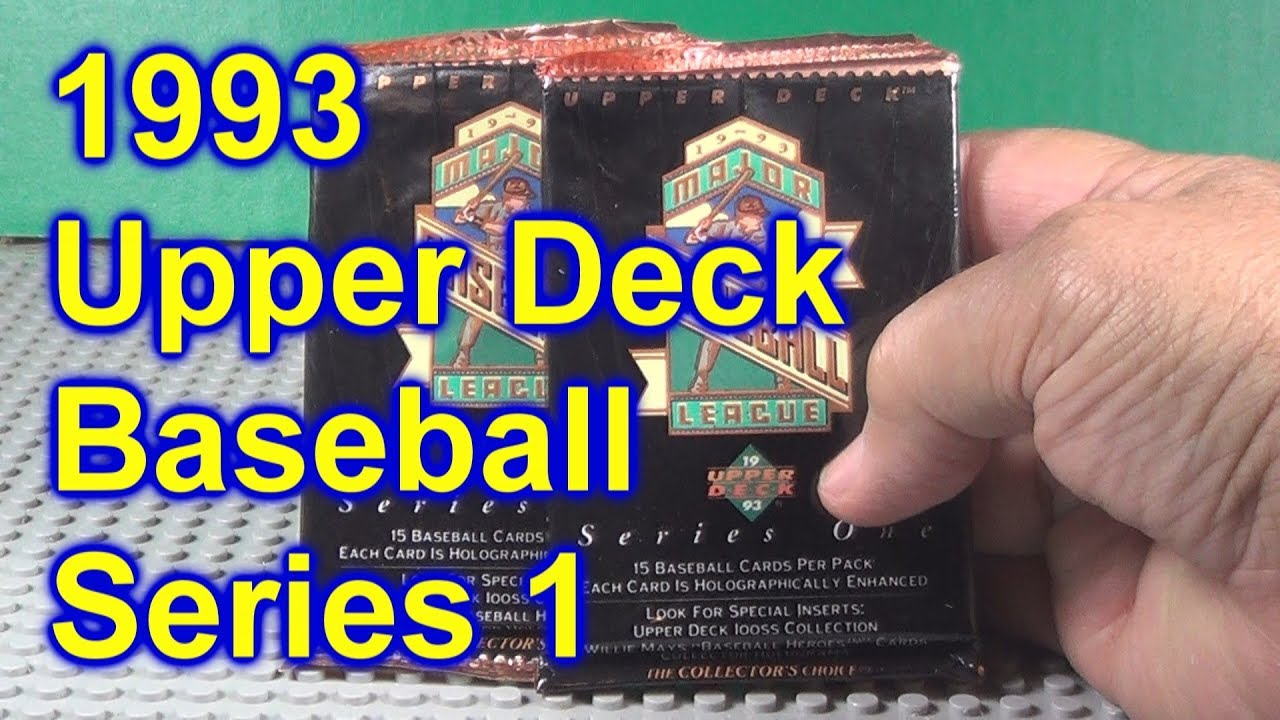 1993 Upper Deck Baseball Series 1 2 Packs Opened Derek Jeter Rookie