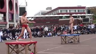 130511 仙台一高・二高定期戦 オープニングセレモニー(野球拳②)