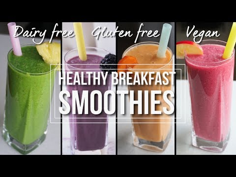 Healthy Breakfast Smoothies As Meal Replacement (Part 2) | Dairy Free, Gluten Free, Vegan