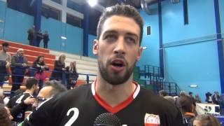 25-11-2015: Candellaro dopo la vittoria su Trento