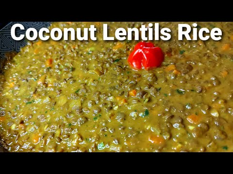 Coconut Lentils Rice Recipe || Lentils Recipe || Coconut Recipe
