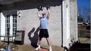 Dumbbell Power Clean and Press