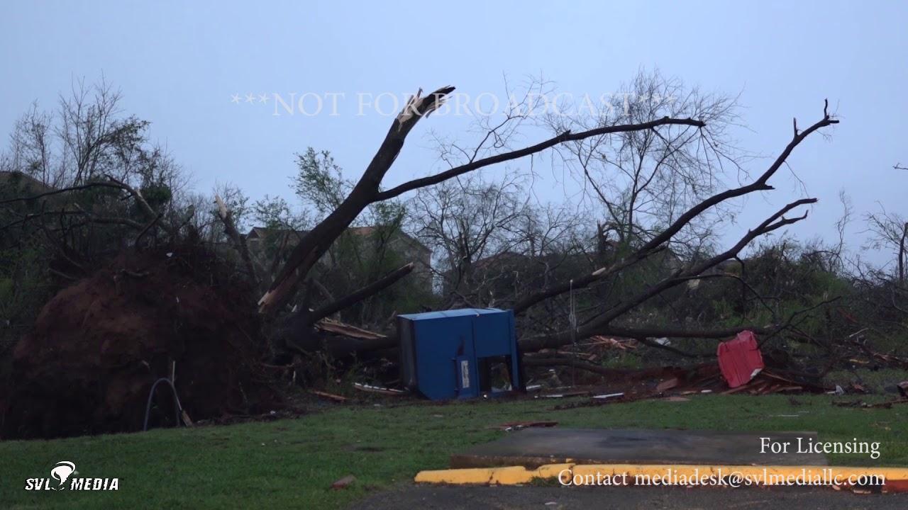 Jacksonville AL Tornado Damage First Light Property