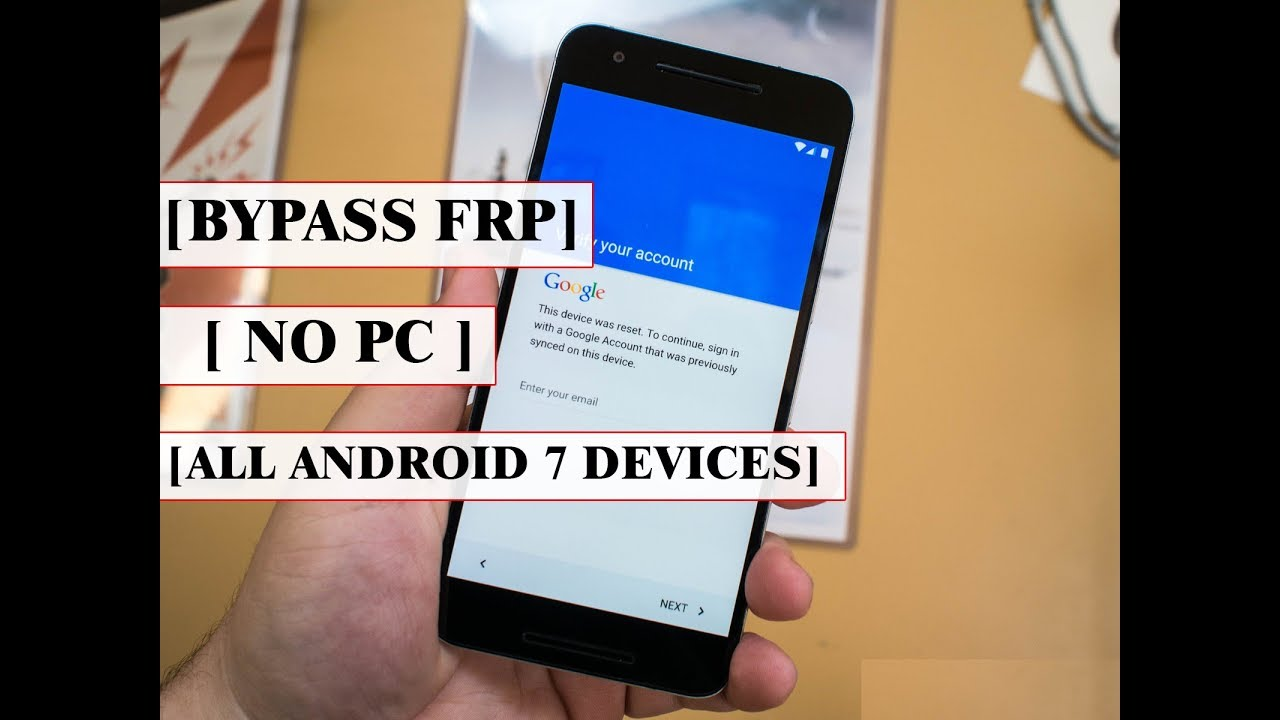 Bypass Factory Reset Protection (FRP) On All Android Devices Running