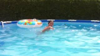 Jessy in het zwembad
