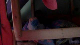 Baby Going Up The Slide Of A Bunk Bed