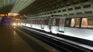 DC Metro (WMATA): Orange Line trains at Farragut West
