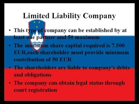 How to open a company in Slovenia