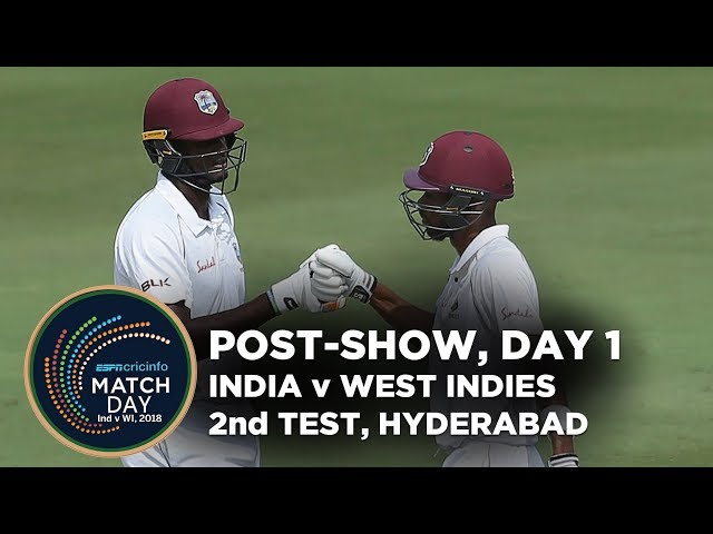 Matchday, India v West Indies, 2ndTest, day 1, stumps