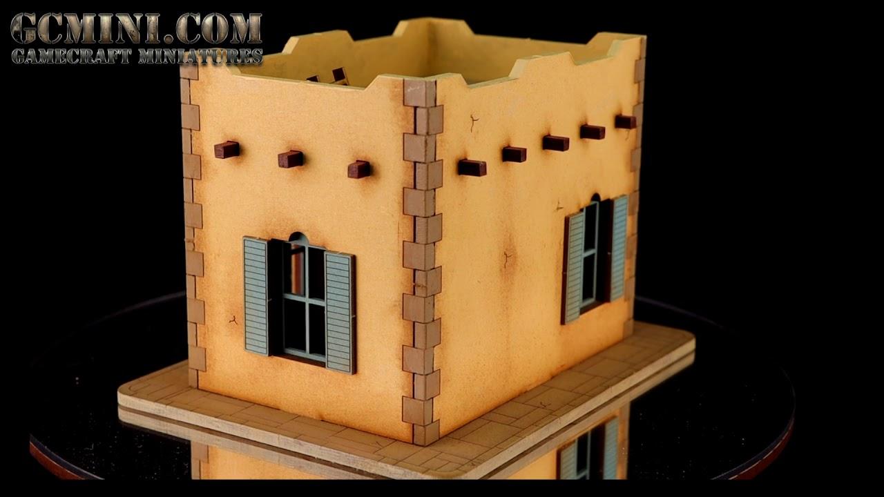 8 items. 6mm Scale Middle Eastern Wargame Terrain Scenery Buildings