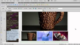 Dreamweaver Picture Gallery : using swap image behavior and fade in effect