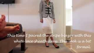 How to style a Stripe Blazer.