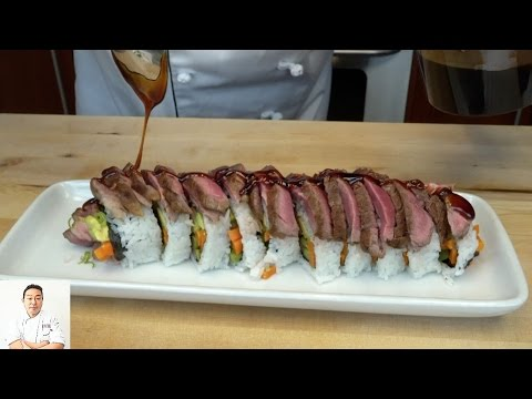 Steak Lovers Sushi Roll - How To Make Sushi Series
