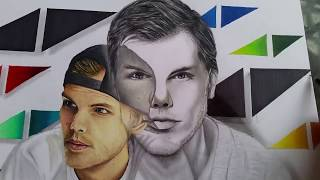 sketch Drawing Avicii ◀▶// R.I.P AVICII Speed Drawing