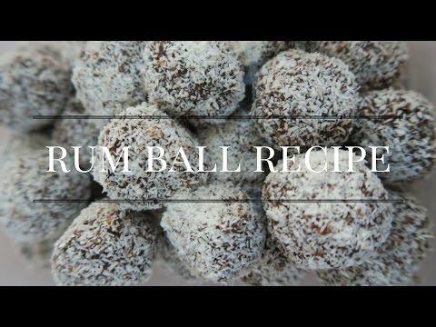 CHRISTMAS CHOCOLATE RUM BALL RECIPE