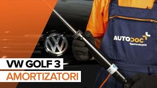 aizmugurē Amortizators montāža VW GOLF: video pamācības