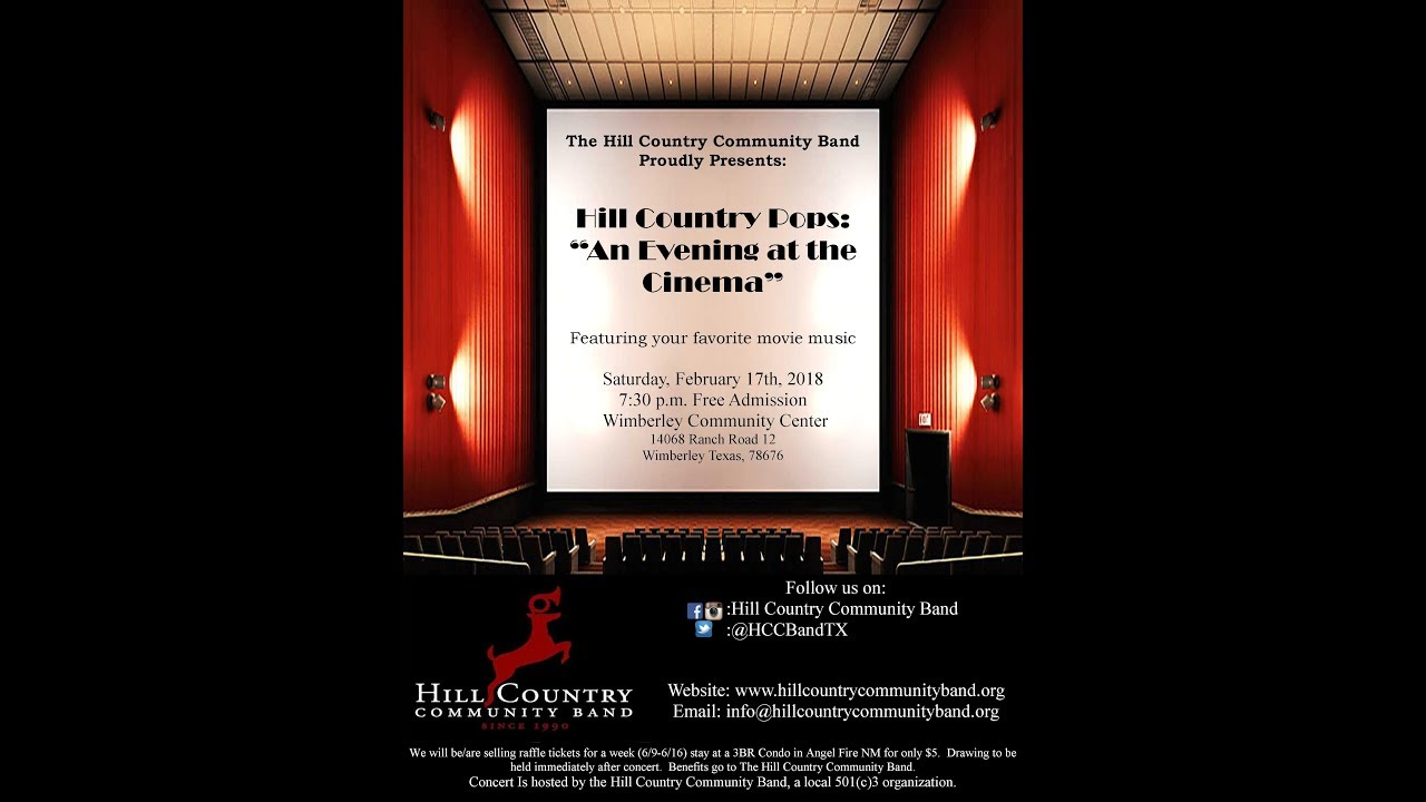 Download Hill Country Community Band: An Evening at the Cinema, Feb 17th, 2018