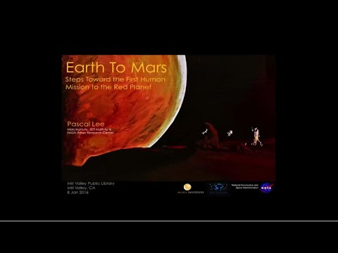 Mill Valley Public Library's After Hours Series: Earth to Mars with Dr. Pascal Lee
