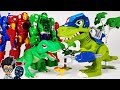 Dino Mecard SD Tyranno & Chomp Squad Troopersaurus, Avengers Vs PJ Masks Romeo Battle Toys Play