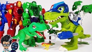 Dino Mecard SD Tyranno & Chomp Squad Troopersaurus, Avengers...
