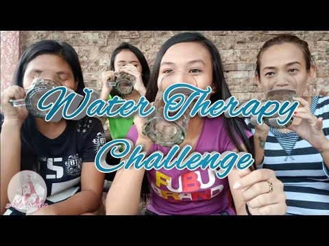 Water Therapy Challenge😂😂