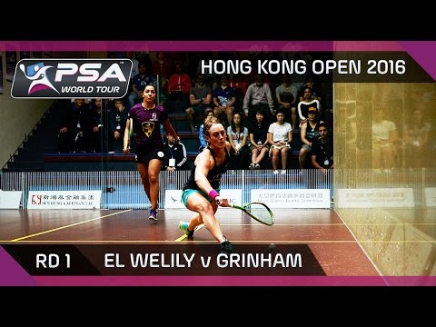 Squash: Hong Kong Open 2016 - El Welily v Grinham - Rd 1 Highlights