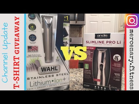 Wahl Lithium Ion+ vs Andis Slimline Pro Li -(channel update/ t-shirt giveaway)