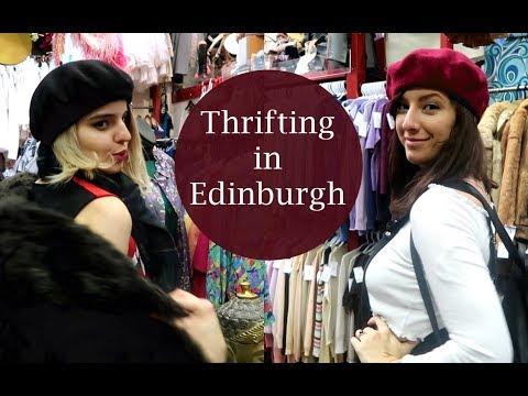 Edinburgh Vlog#5: THRIFT SHOPPING | + Outtakes!
