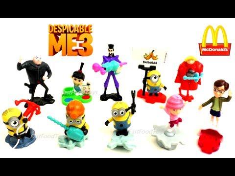 2017 Despicable Me 3 Mcdonald S Minions Happy Meal Toys Vs