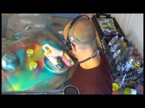 "spray paint art ""clouded mind"" 3d DIY spray art tutorial timelapse"