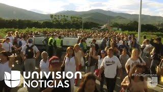 Venezolanos cruza la frontera debido al hambre
