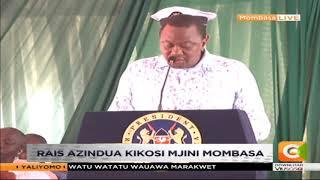 Rais Kenyatta azindua kikosi cha huduma za walinzi wa baharini mjini Mombasa