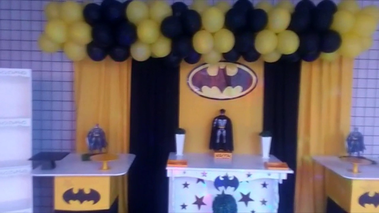 Decoracao Yotube ~ DECORA u00c7ÃO DE FESTA BATMAN (VESRSÃO SIMPLES) YouTube