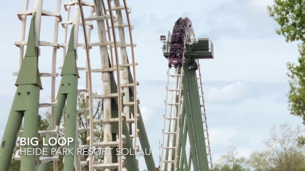 Big Loop Heide Park Resort Soltau Youtube