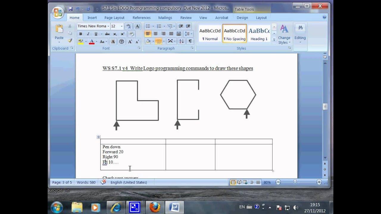 WS S7 1 v5 Practice, Logo, Turtle graphics, Mr Liao